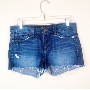 J Brand Distressed Jean Cut Off Ringer Shorts